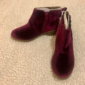 Girls Faux-Suede Chelsea Side-Zip Boots - NWT